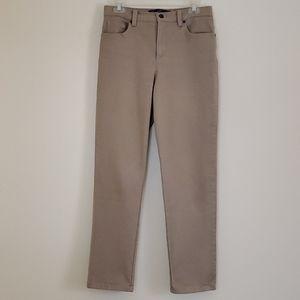Gloria Vanderbilt Amanda Beige High Rise Jeans - 6